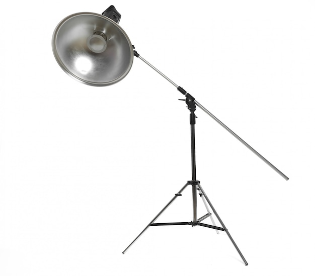 Studio lighting isolated on white Premium Photo