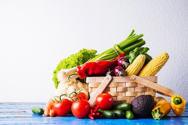Studio shot of vegan basket Free Photo