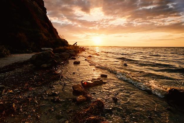 Stunning sunset near akkerman fortress Premium Photo