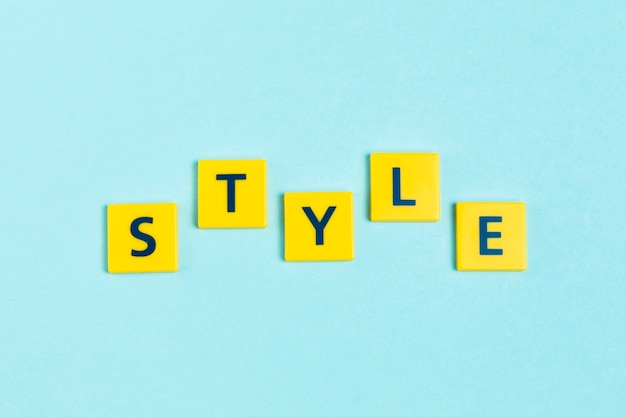 Style word on scrabble tiles Free Photo