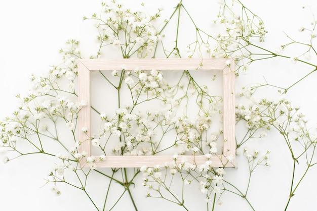 Styled stock photo. feminine wedding desktop stationery mockup with blank greeting card Premium Photo