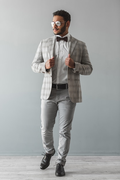 Stylish afro american guy in suit Premium Photo