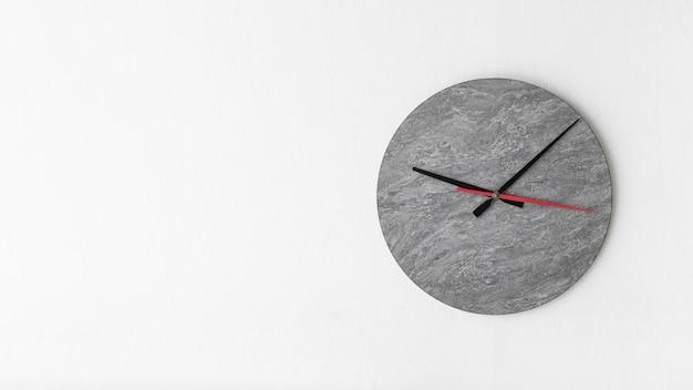 Stylish alarm clock on white background Free Photo
