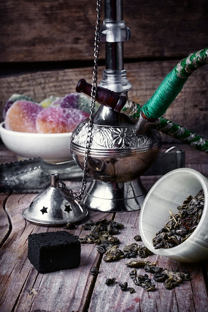 Stylish arabic hookah Premium Photo