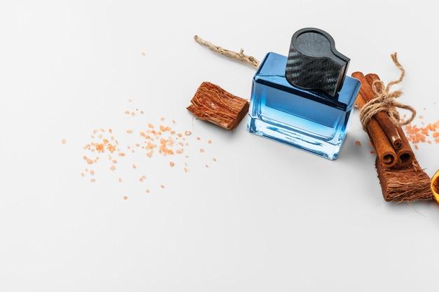 Stylish bottle of french perfume Premium Photo