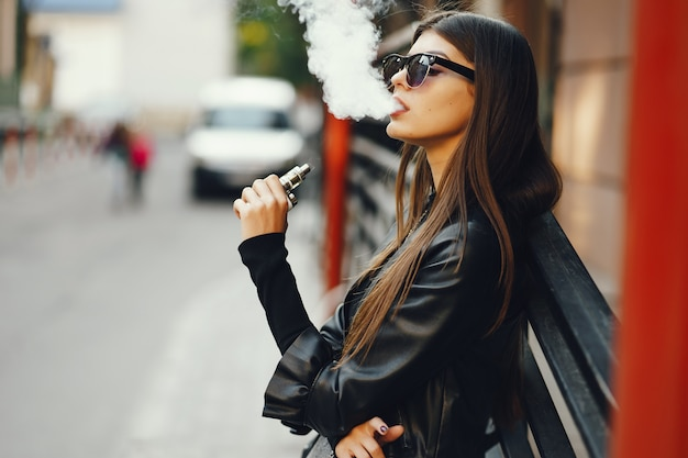 Chicks smoking black cigarettes — img 12
