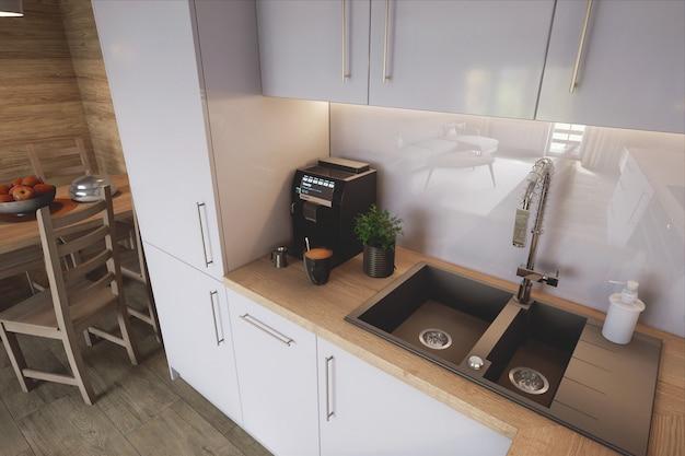 Stylish kitchen Premium Photo