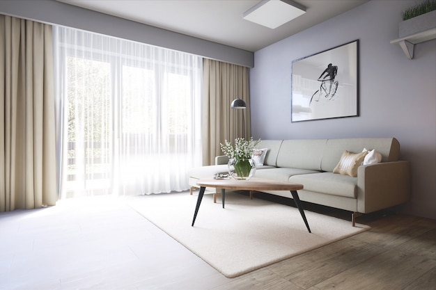 Stylish living room Premium Photo