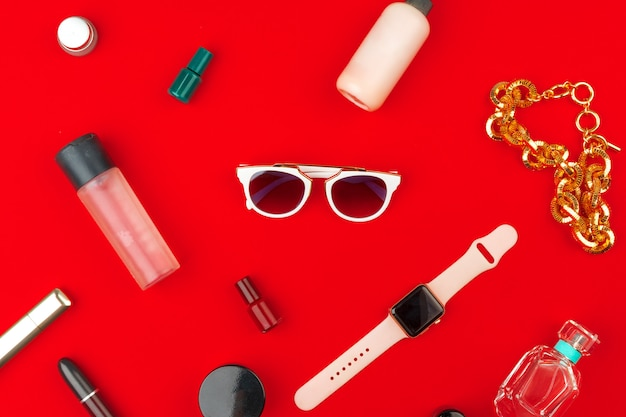 Stylish woman accessories Premium Photo