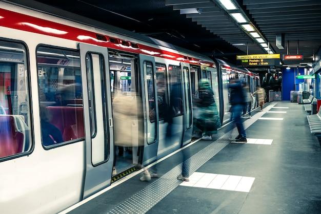 Subway station in lyon city, france Premium Photo