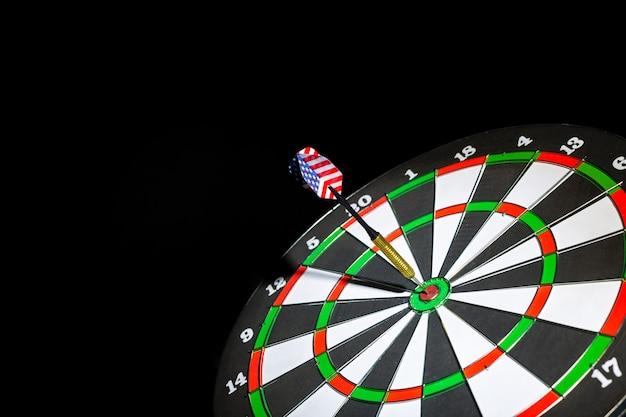 Success hitting target, aim goal achievement concept Premium Photo