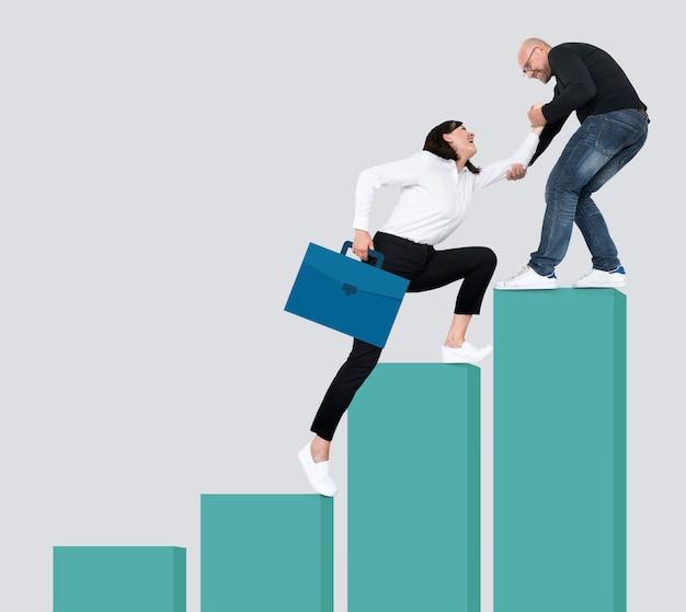 Success through leadership and teamwork Premium Photo