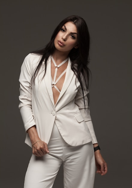 Premium Photo | Successful sexy business woman looking at