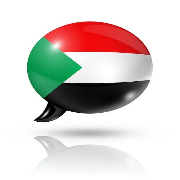Sudanese flag speech bubble Premium Photo