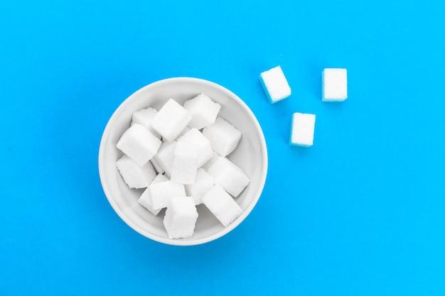 Sugar cube on table Premium Photo