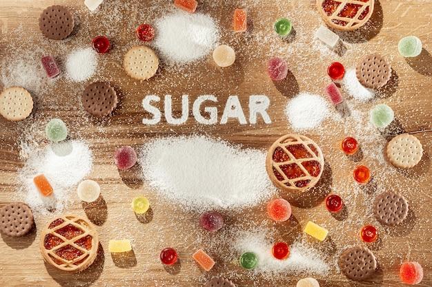 無糖のケーキ。ダイエット食品。 無料写真