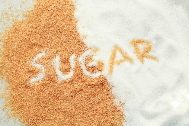 Sugar lettering on sugar Free Photo