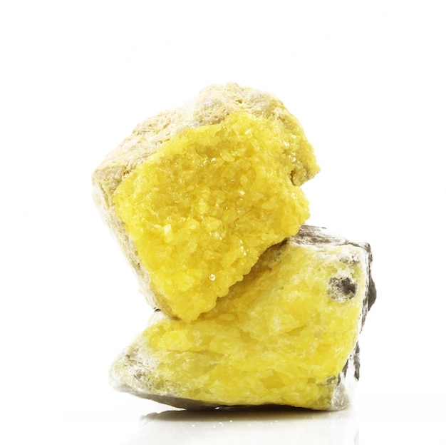 Sulphur crystals Premium Photo