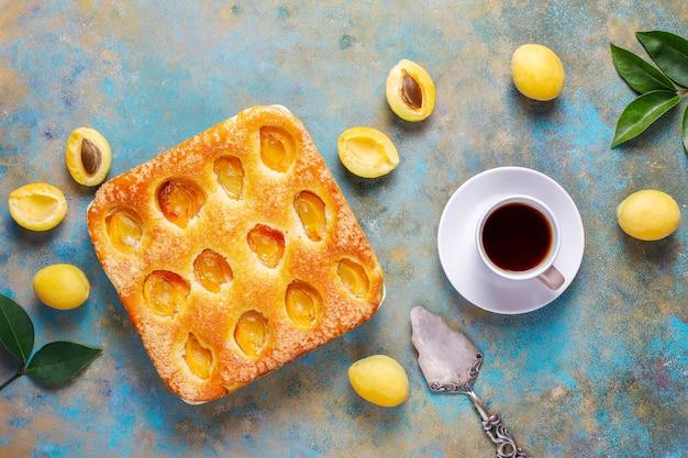 夏アプリコットパイ自家製おいしいフルーツデザート 無料写真