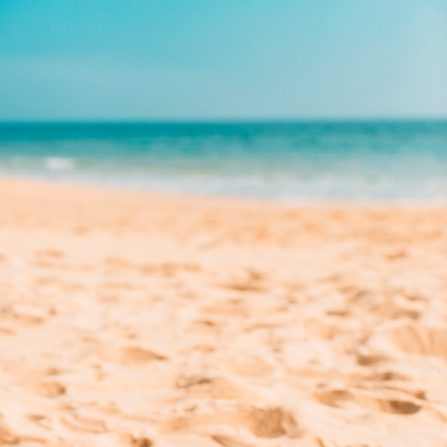 Summer beach bokeh for background Free Photo