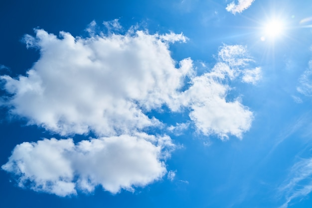 summer beautiful clouds day bright Free Photo