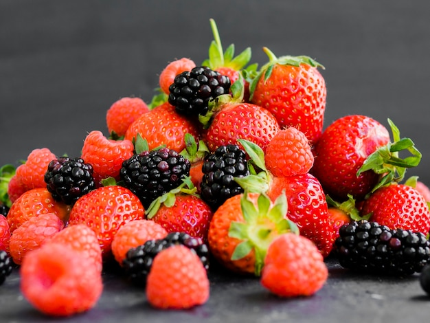 Summer berries on table Free Photo