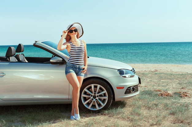 Summer car trip vacation Premium Photo