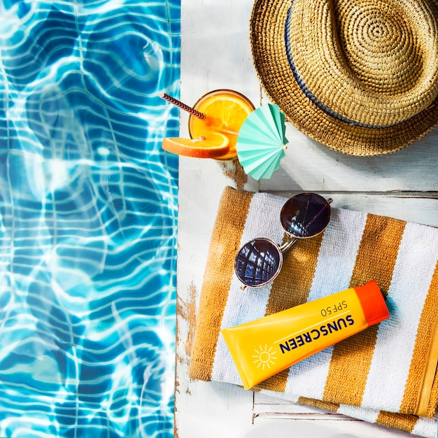 Summer chill collection colorful leisure fresh concept Free Photo