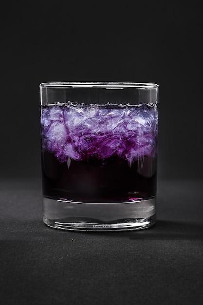 Summer cocktail on isolated black Premium Photo