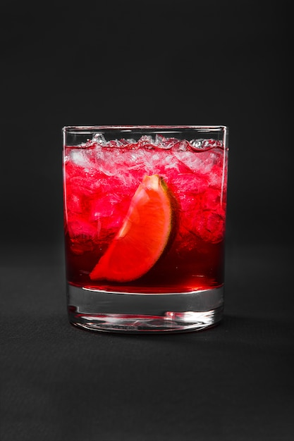 Summer cocktail on isolated black Premium Photo