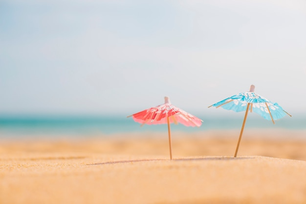 Summer composition at the beach Free Photo