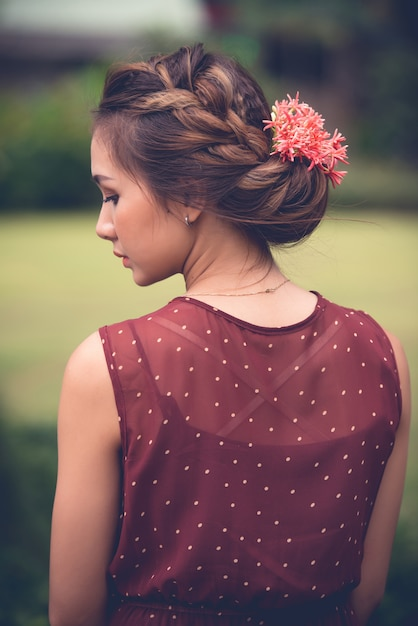 Summer hairstyle Free Photo