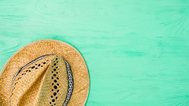Summer hat on board Free Photo