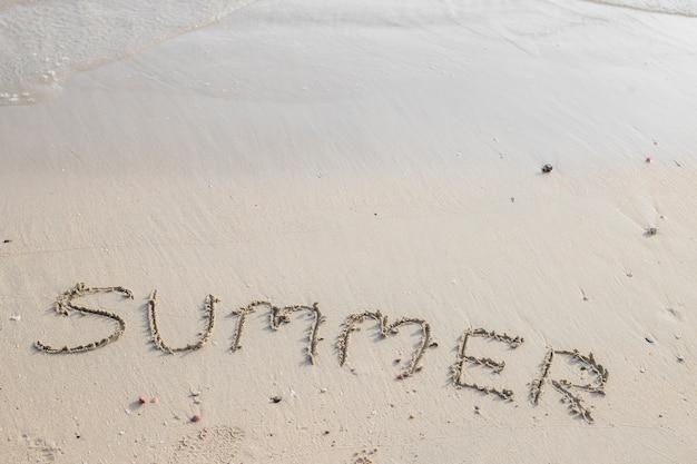 Летняя надпись на песке Бесплатные Фотографии