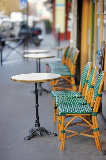 Summer outdoor cafe in paris, france Premium Photo