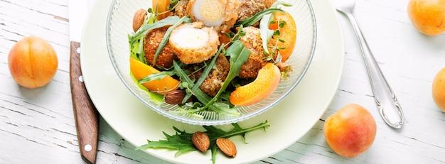 Summer salad with apricot Premium Photo