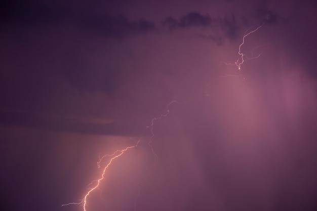 Summer storm with thunder Premium Photo