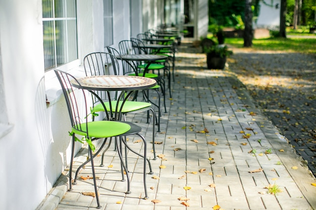 Summer terrace in a country hotel Premium Photo
