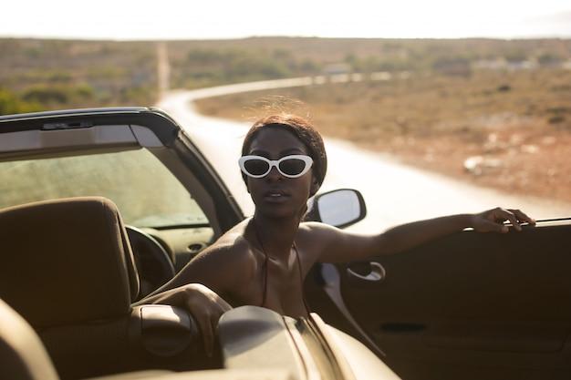 Summer trip by car Premium Photo