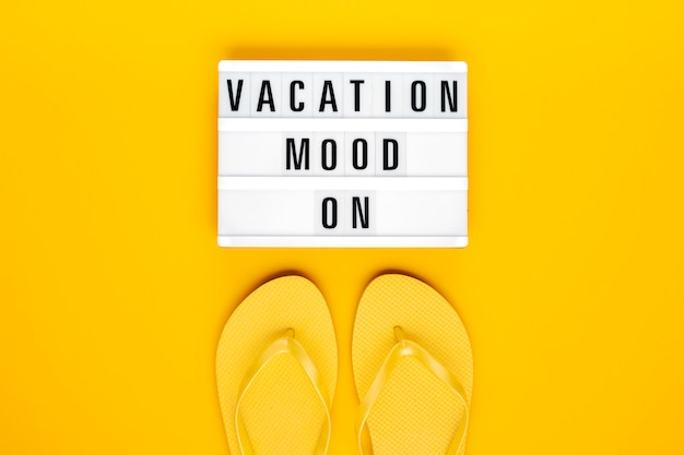 Summer vacation, travel, tourism concept flat lay. Premium Photo