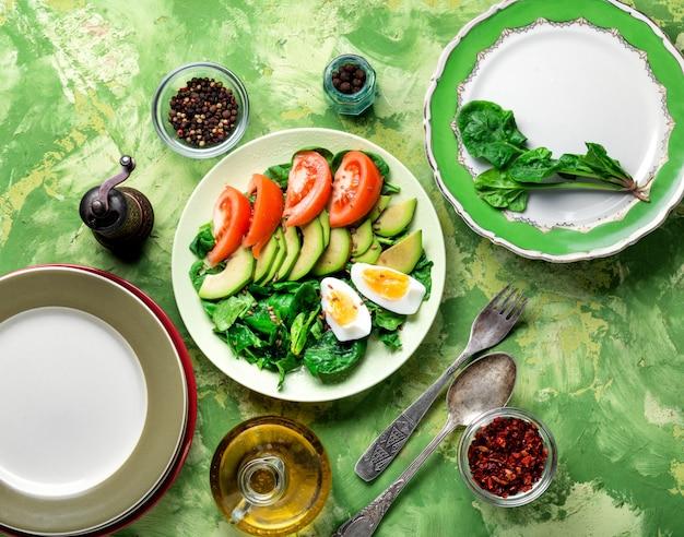 Summer vegetable salad Premium Photo