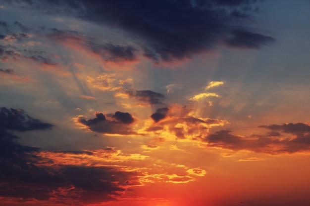 Sundawn on sky Free Photo