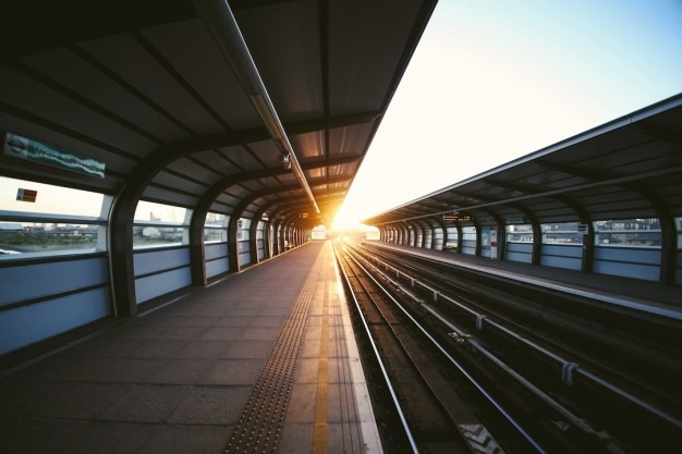 Sunlight at the end of the platform