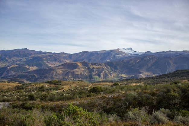 Sunny day in the sierra nevada del cocuy Premium Photo