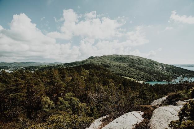 Sunny landscape of a mountain Free Photo