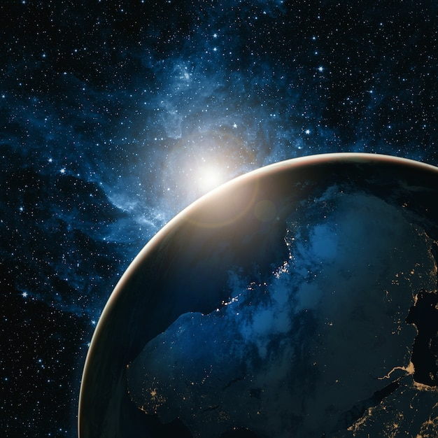 Sunrise over the earth - elements of this image furnished by nasa Premium Photo