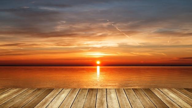Sunrise over the lake Premium Photo