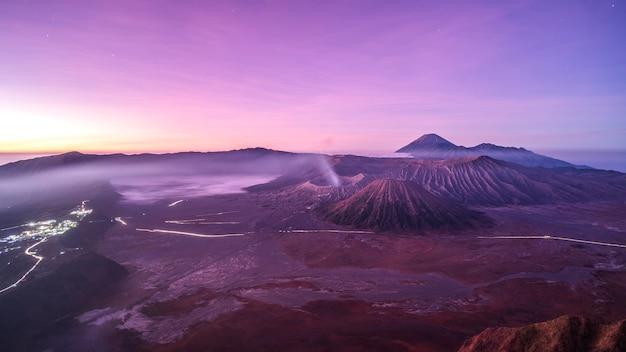 Sunrise at volcano mt.bromo (gunung bromo) east java,indonesia Premium Photo
