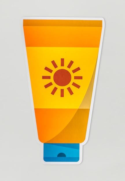 A sunscreen isolated on background Free Photo
