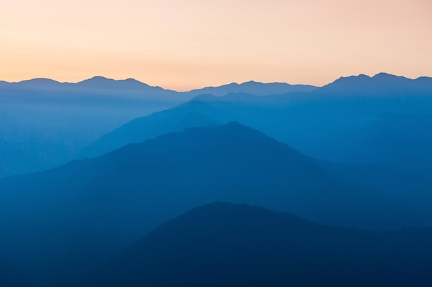 Sunset in himalayas Premium Photo